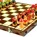 Hand-painted Chess Sets And Carved From Local Wood