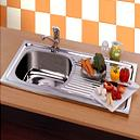 Stainless Steel Kitchen Sinks With Sloping Drain Boards For Easy Drainage