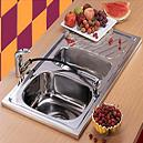 Stainless Steel Kitchen Sinks With Two Bowls And Drain Board