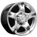 16 X 7.5 Size Wheel In Hyper Silver Finish