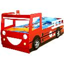Fire Engine Shaped Kid`s Bed