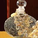 Round Clear Glitter Bottle