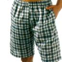 Woven Short Made Of Yarn Dyed Woven Cotton