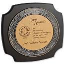 Wooden Cum Oxidized Metallic Trophy