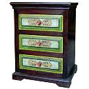 Wooden Drawer Cabinet With Decorative Painting
