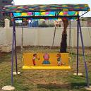 Yellow Colored Family Swing with Frp shelter