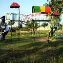 Slide And Climber Attached Equipment For Play Grounds