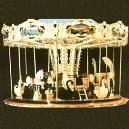 Merry-Go-Round Carousel With Horses And Horse Carts