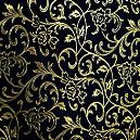 Black Handmade Paper With Gold Foil