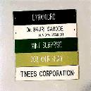 Name Plates with 32 cm x 5 cm Dimension Size