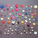 Plastic Made Beads/ Buttons/ Trimmings And Embellishments