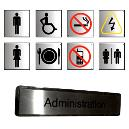 Stainless Steel Brush Finish Or Polished Name Plates And Compact Glow Signs