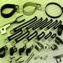 Pe/Pvc Coated Sheet Metal Components/Clips