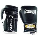 Rubber Padded Leather Boxing Gloves
