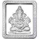 Square Shaped Ganesh Silver Coin
