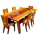 Dining Table with Natural Edges and Flaws