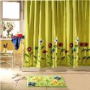 Cotton Tufted Bathrugs with Coordinated Shower Curtains