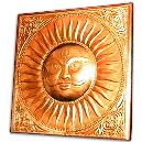 Sun Engraved Brass Wall Hanging