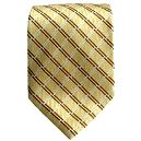 Pale Yellow Coloured Tie with Bronze Stripes