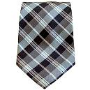 Tie with Combination of Wide and Fine Stripes