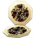 Designer Coasters Decorated with Polished Shells