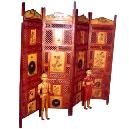 Designer Wooden Screen with Four Folding Option