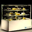 Bakery Display Cabinet with Three Cantilevered Glass Shelves