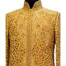 Cream Coloured Fully Embroidered Sherwani