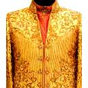 Cream Coloured V-neck Sherwani