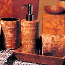 Hand Crafted Bathroom Accessory Set