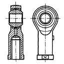 Lubricatable Rod End with 5-30mm Bore Diameter