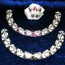 Antique Stone and American Diamond Studded Choker Necklace Set