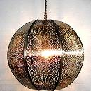 Metallic Hanging Light Ball