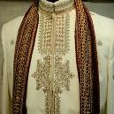 Thread Embroidered Wedding Sherwani