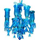 Blue Glass Finished Designer Chandelier