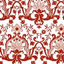 Red/ White Floral Jacquard Fabric