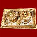 Designer Marble Tray with Container