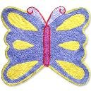 Cotton Bathmat with Butterfly Design
