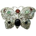Butterfly Shaped Silver Plated Brooch