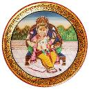 Ganesha Inscribed Marble Plate