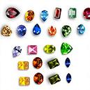 Cubic Zirconia Multicoloured Gemstone