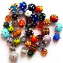 Colourful Glass made Garment Bead