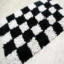 Chequered Designed Bath Mats