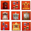 Moveable Decorative Wooden Temple