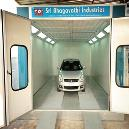Automobile Two Wheeler Booth with Galvanized Steel Basement