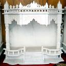 Marble Temple with Inlay Work