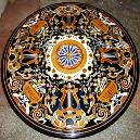 Round Marble Inlay Table Top