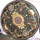 Black Marble made Inlay Dining Table Top