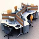Cluster Seating Cubicle with Single/ Double Side Storage