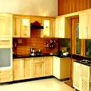 Modern Kitchen with Mounting Telescopic Slide